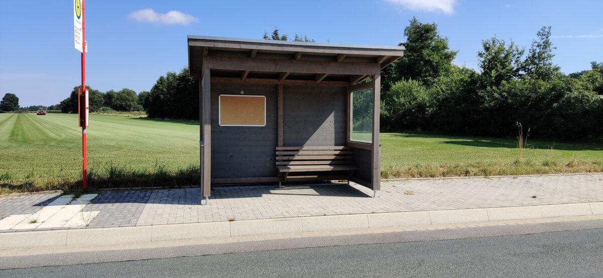 Neue Bushaltestellen in Drestedt